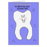 Congratulations on Getting Your Braces Off Card