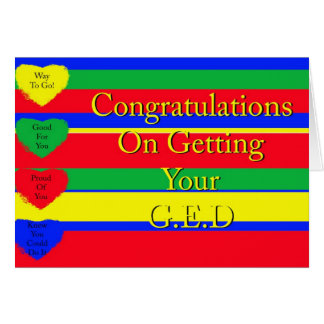 Congratulations On Getting Your GED Card