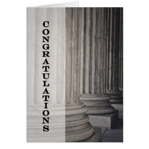 Congratulations on Graduating from Law School Greeting Card