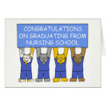 Congratulations on graduating from nursing school. card