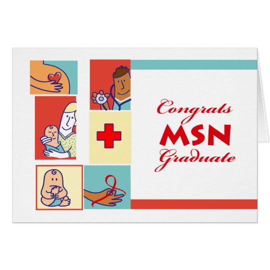 Congratulations On Graduation Msn Degree Nursing Card Zazzle