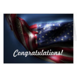 Congratulations on Green Card!-American Flag