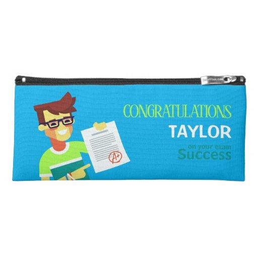 Congratulations on His Exam Success – Customizable Pencil Case