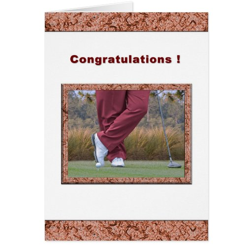 Congratulations on Hole-in-One for Golfer Greeting Card