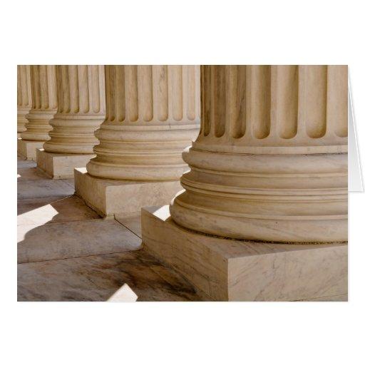 Congratulations on Law Degree Pillars Greeting Card