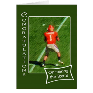 Congratulations on making football team card