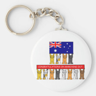 Congratulations on Marching Out. Keychain