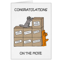 Congratulations on new home, cute cats.