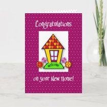 Congratulations on New Home, Purple, House Card