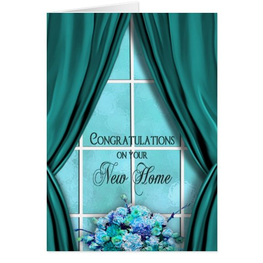 Congratulations on New Home - Window/Curtains Card