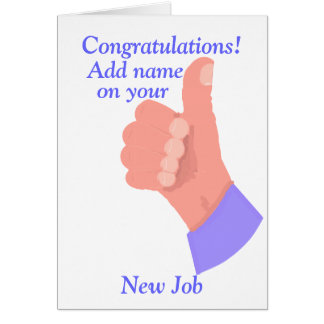 Congratulations on New Job customize Card