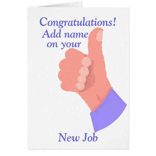 congratulations on new customize card zazzle
