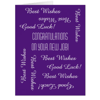 Congratulations on New Job from All of Us, JUMBO Card