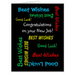 Congratulations on New Job, from All of Us, JUMBO Large Greeting Card