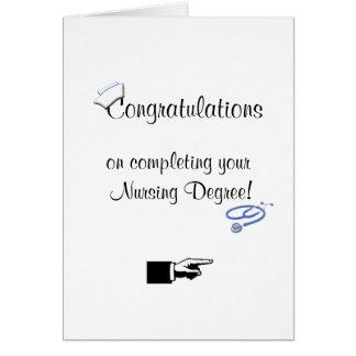 Congratulations on Nursing Degree-Humor Cards