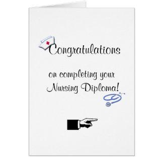 Congratulations on Nursing Diploma-Humor Greeting Cards