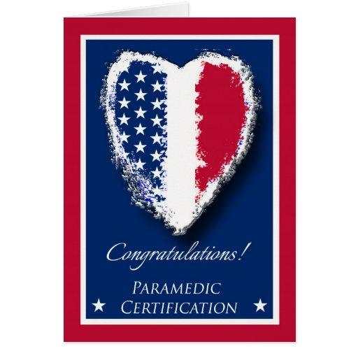 Congratulations on Paramedic Certification Card