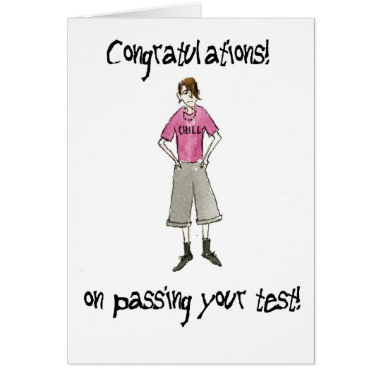 Congratulations on  Passing Test for a Boy Card