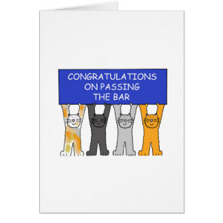 Congratulations on passing the bar exam. card