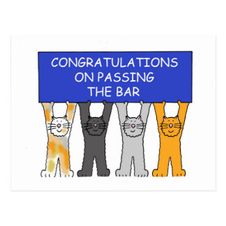 Congratulations on passing the bar exam. postcard