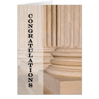 Congratulations on Passing the Bar Law Test Exam Card