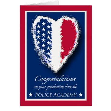 Valentines Themed Congratulations on Police Academy Graduation Card