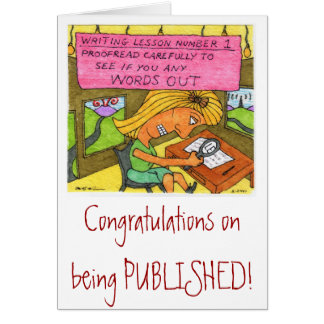 Congratulations on Publication Card
