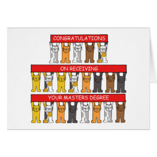 Congratulations on receiving your Masters Degree Card