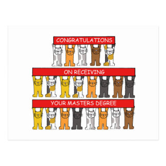 Congratulations on receiving your Masters Degree Postcard
