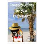 Congratulations on retirement boxer greeting card