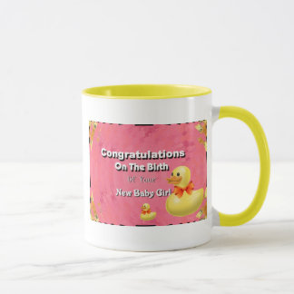 Congratulations On The Birth Of Your New Baby Girl Mug