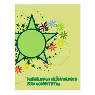 Congratulations on the birthday postcard