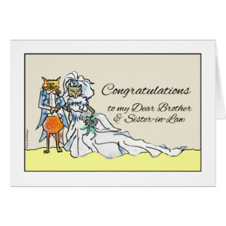 Congratulations on Wedding, Brother, Sister-in-Law Card