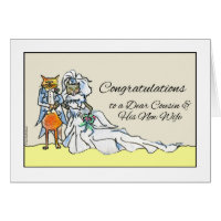 Congratulations on Wedding for Cousin and New Wife Card