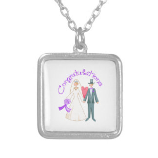 CONGRATULATIONS ON WEDDING PERSONALIZED NECKLACE