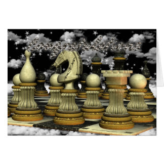 Congratulations on Winning in Chess Card