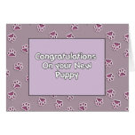 Congratulations On You New Puppy Cards
