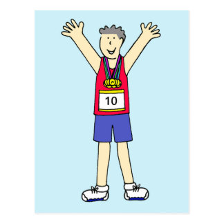 Congratulations on your 10th marathon. postcard