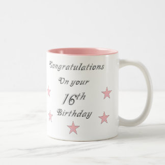 Congratulations On your 16th Birthday Mug