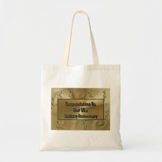 Congratulations On Your 50th Wedding Anniversary Tote Bag