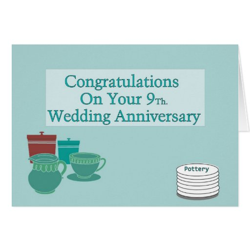 Congratulations On Your 9Th. Wedding Anniversary Greeting ...