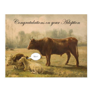 Congratulations on your Adoption Postcard
