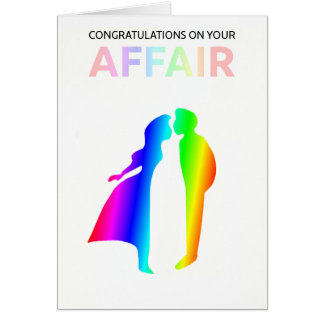 """Congratulations on your affair"" card"
