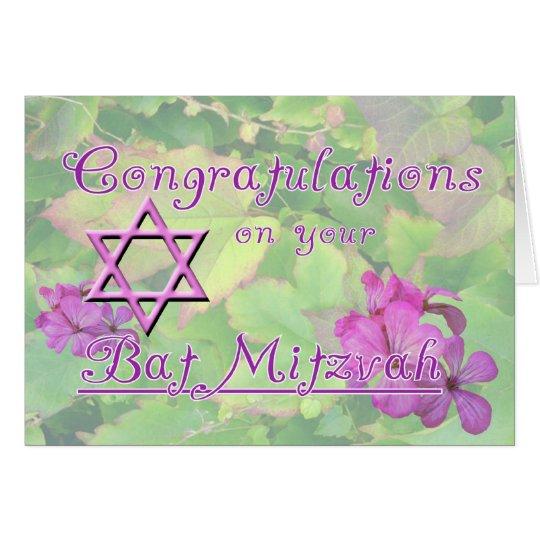 Congratulations on your Bat Mitzvah! Card