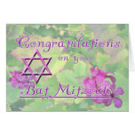 Congratulations on your Bat Mitzvah! Greeting Card