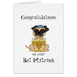 Congratulations on your Bat Mitzvah-Pug Dog Card