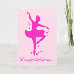 Congratulations on Your Dance Recital Card