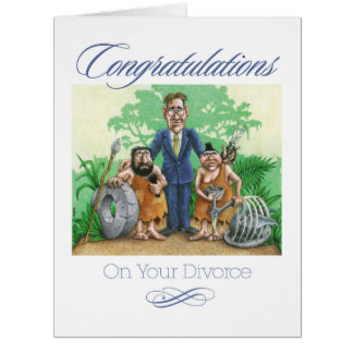 Congratulations On Your Divorce Large Greeting Card