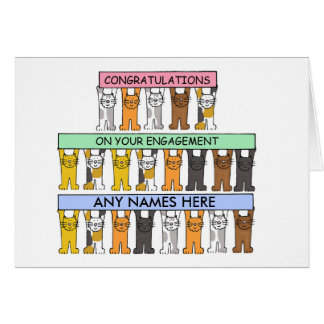 Congratulations on your engagement, to customise. card