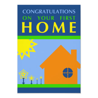 congratulations on your first home (mod shapes) card